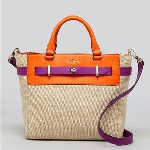 Kate Spade ♠️ Bourbon Street Canvas Leather Bag